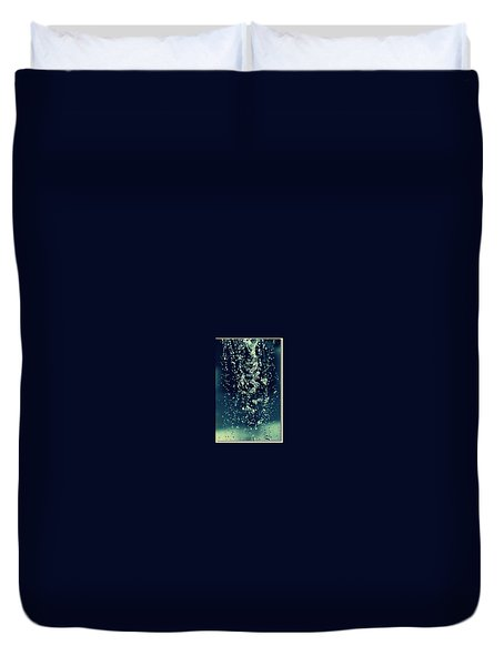Duvet Cover featuring the photograph Water Blues by Marija Djedovic