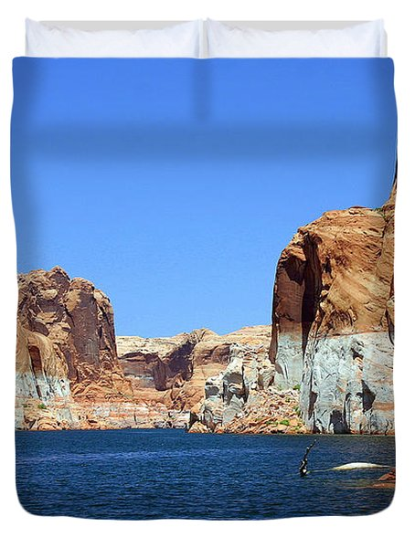 Water Canyons Duvet Cover by Bob Hislop