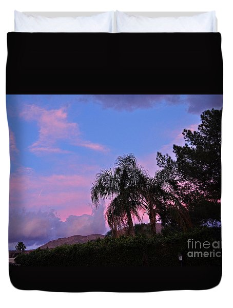 Water Colored Sky Duvet Cover by Jay Milo