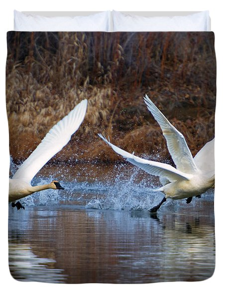 Water Dance Duvet Cover by Mike  Dawson