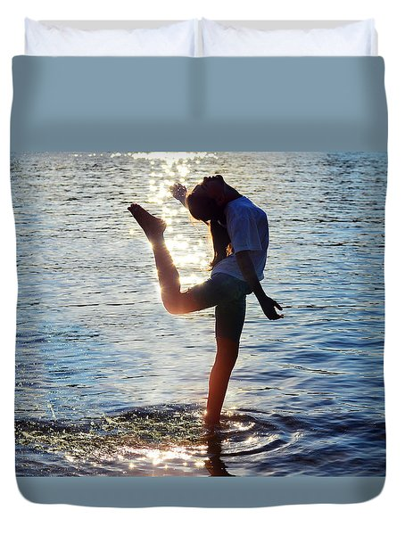 Water Dancer Duvet Cover