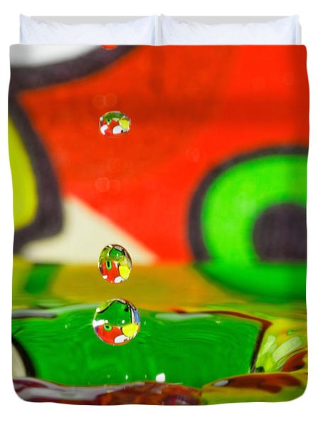 Duvet Cover featuring the photograph Water Dew by Peter Lakomy
