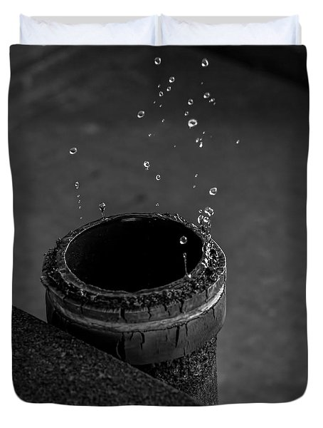 Water Dripping Up The Spout Duvet Cover by Bob Orsillo