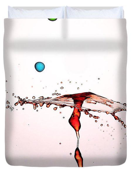 Water Droplets Collision Liquid Art 11 Duvet Cover