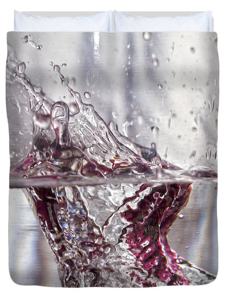 Water Drops Abstract  Duvet Cover by Stelios Kleanthous