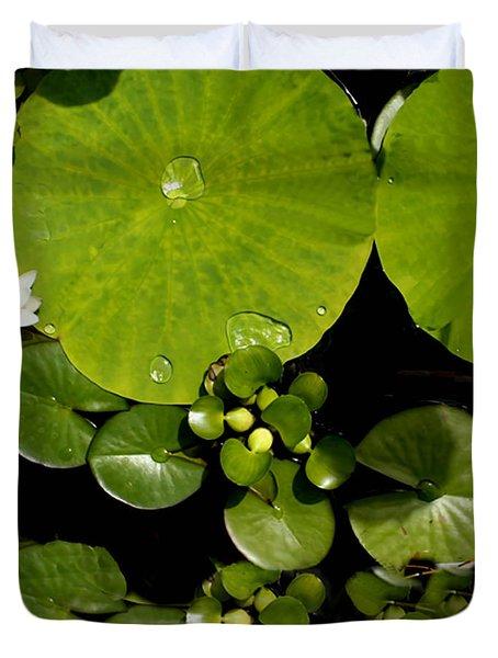 Water Drops Bristol Rhode Island Duvet Cover