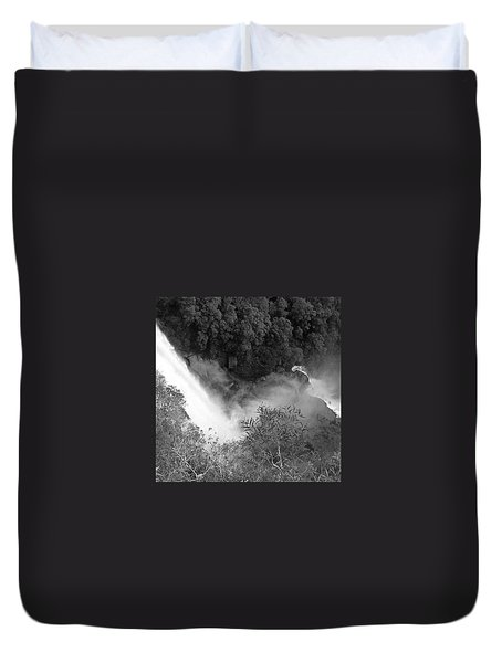 Water Fall And Bushland Duvet Cover by Cheryl Miller