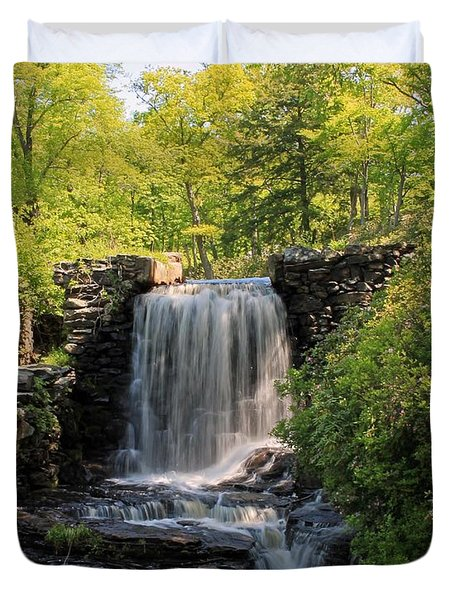 Water Fall Moore State Park 2 Duvet Cover