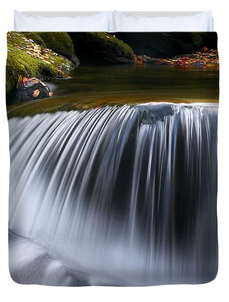 Water Falling Great Smoky Mountains Duvet Cover by Rich Franco