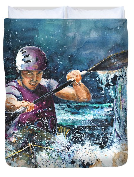 Water Fight Duvet Cover by Miki De Goodaboom