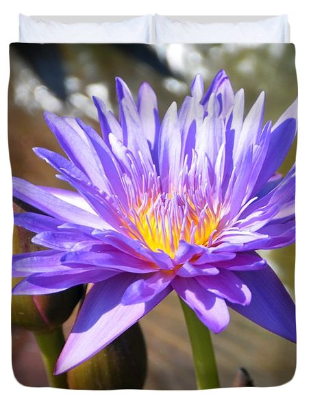 Duvet Cover featuring the photograph Water Flower 1004d by Marty Koch