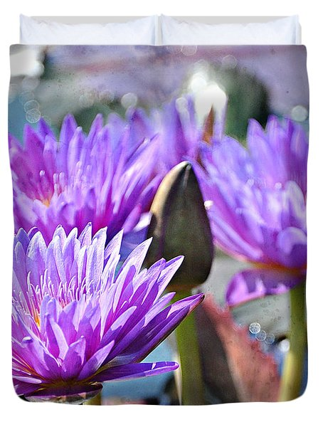 Duvet Cover featuring the photograph Water Flower 1006 by Marty Koch