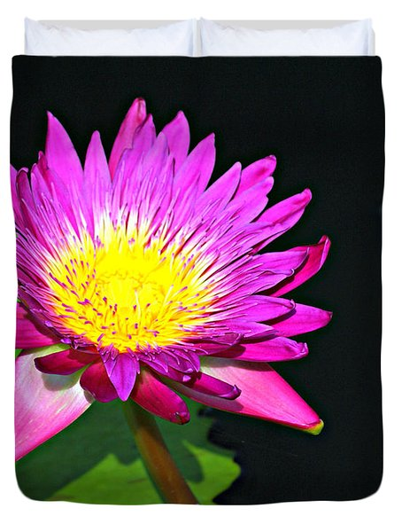 Duvet Cover featuring the photograph Water Flower 10089 by Marty Koch