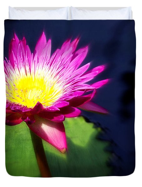 Water Flower Duvet Cover by Marty Koch