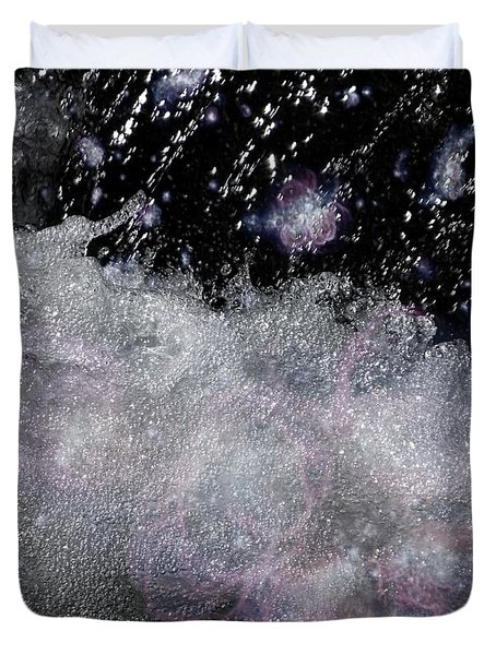 Water Flowing Into Space Duvet Cover