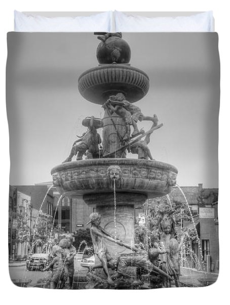 Water Fountain Duvet Cover by Kathleen Struckle