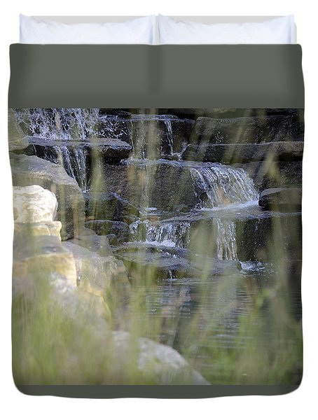Duvet Cover featuring the photograph Water Is Life 1 by Teo SITCHET-KANDA