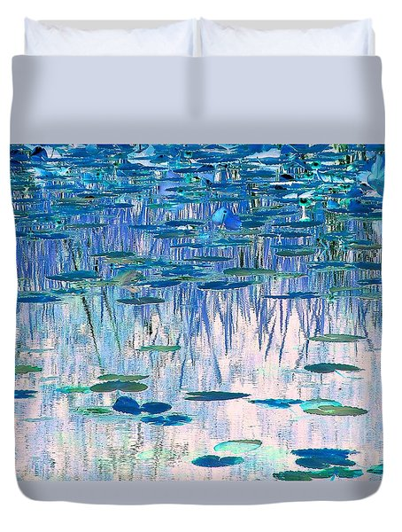 Water Lilies Duvet Cover by Chris Anderson