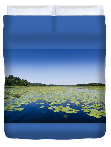 Water Lilies Duvet Cover by Gary Eason