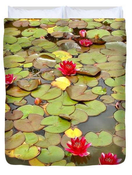 Duvet Cover featuring the photograph Water Lilies  by Katy Mei