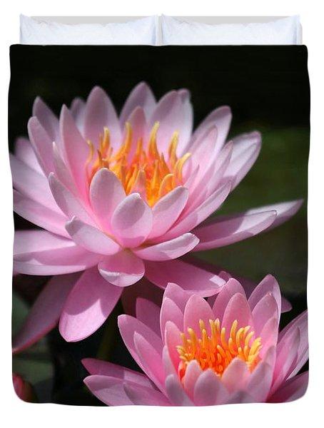 Water Lilies Love The Sun Duvet Cover