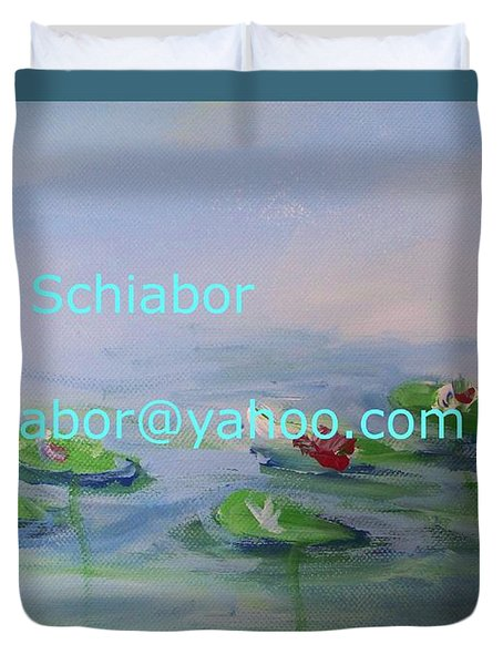 Water Lilies Print Duvet Cover by Eric  Schiabor