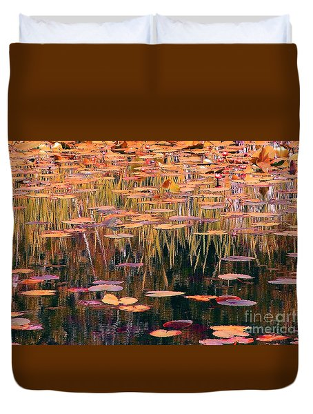 Water Lilies Re Do Duvet Cover by Chris Anderson