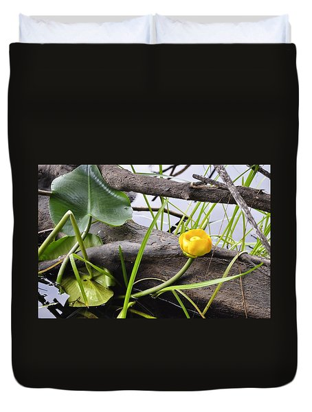Duvet Cover featuring the photograph Water Lily by Cathy Mahnke
