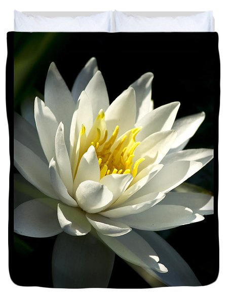 Duvet Cover featuring the photograph Water Lily by Christina Rollo