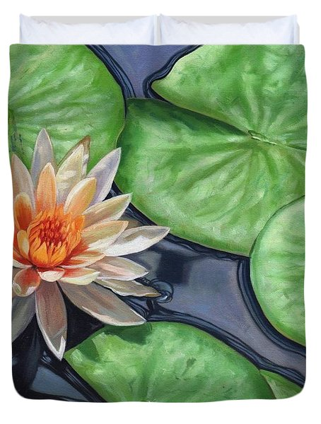 Water Lily Duvet Cover by David Stribbling