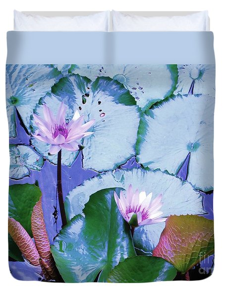 Duvet Cover featuring the photograph Water Lily II by Ann Johndro-Collins