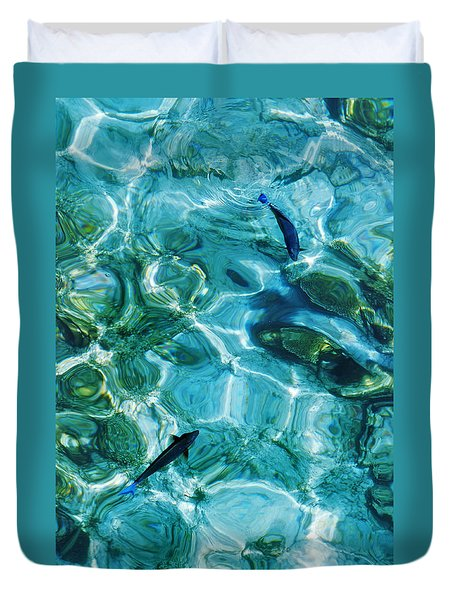 Water Meditation II. Five Elements. Healing With Feng Shui And Color Therapy In Interior Design Duvet Cover
