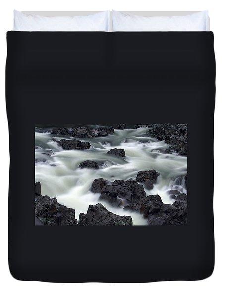 Water Over Rocks Duvet Cover