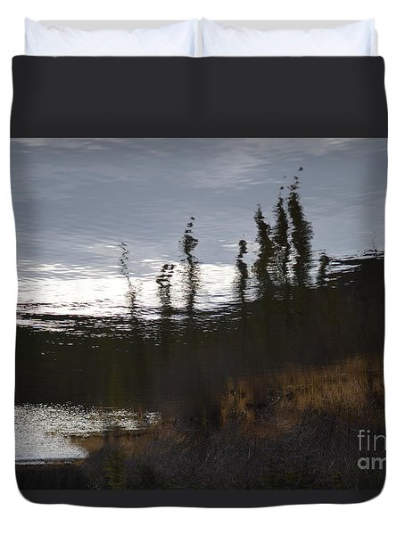Duvet Cover featuring the photograph Water Paint by Brian Boyle