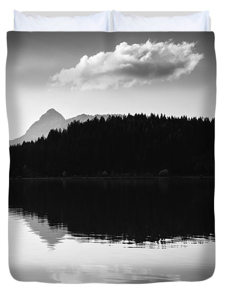Water Reflection Black And White Duvet Cover