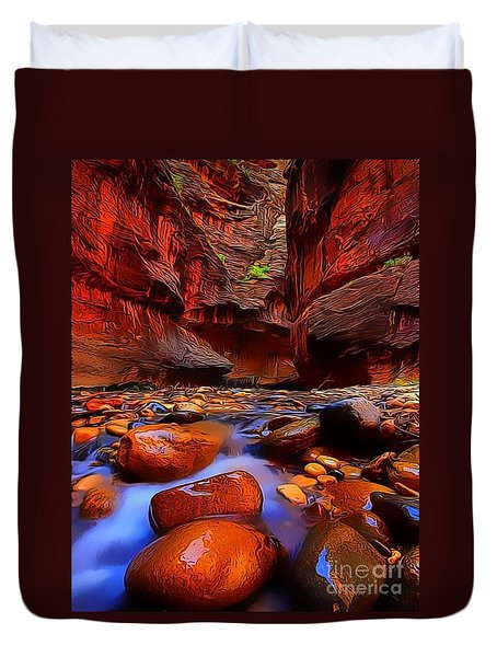Water Runs Through It Duvet Cover