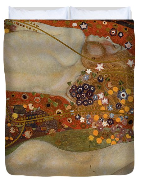 Water Serpents II Duvet Cover by Gustav Klimt
