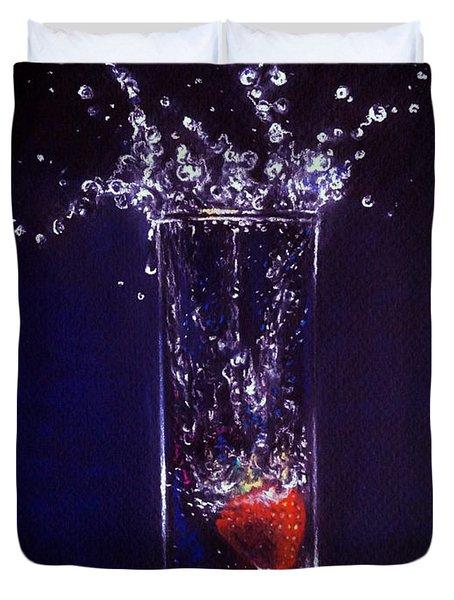 Water Splash Reflection Duvet Cover
