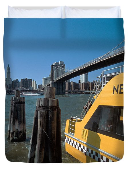 Water Taxi Duvet Cover by Bruce Bain