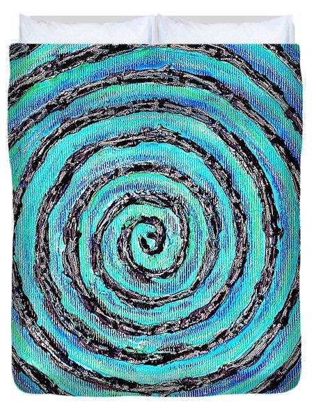 Water Vortex Duvet Cover by Carla Sa Fernandes