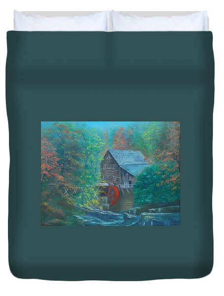 Water Wheel House  Duvet Cover