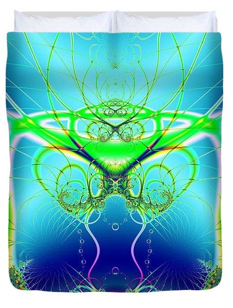 Water World Fractal Duvet Cover