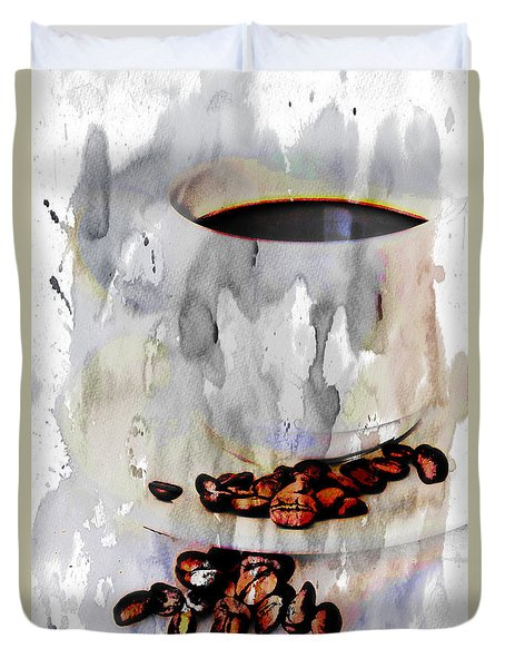 Watercolor Coffee Duvet Cover