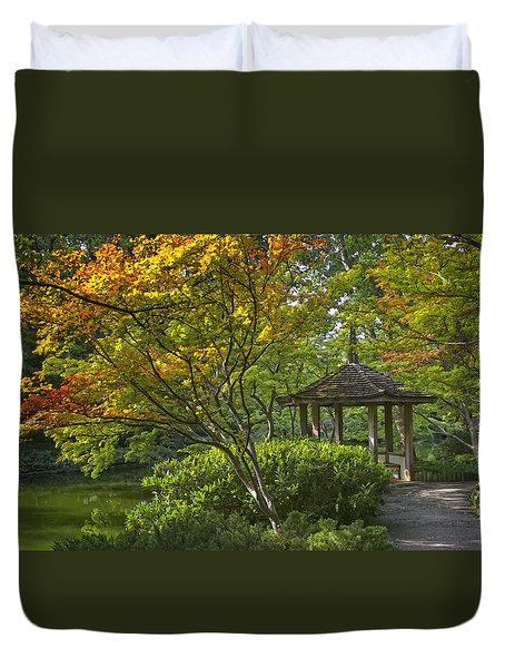 Watercolor Gardens Duvet Cover by Joan Carroll