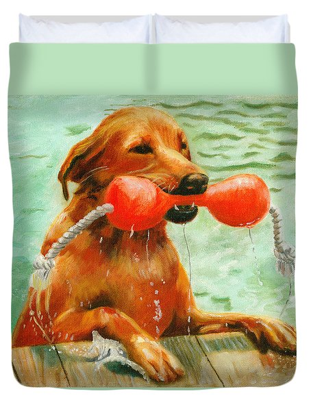 Waterdog Duvet Cover