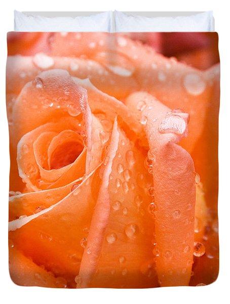 Watered Rose Duvet Cover
