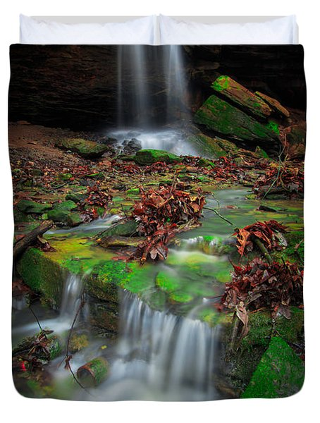 Frankfort Mineral Springs Waterfall  Duvet Cover