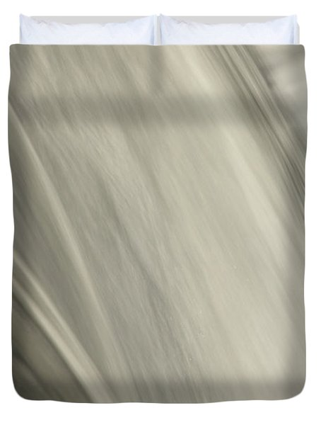 Waterfall Abstract Duvet Cover by Karol Livote