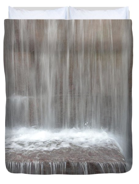 Waterfall At The Fdr Memorial In Washington Dc Duvet Cover