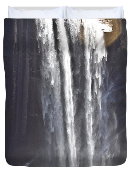 Duvet Cover featuring the photograph Waterfall by Brian Williamson
